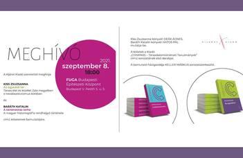 Könyvbemutató szeptember 8-án